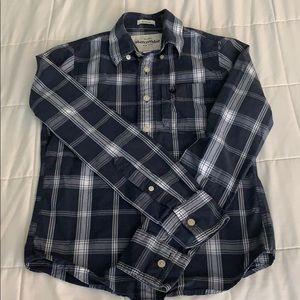 Boys Abercrombie size M long sleeve button down